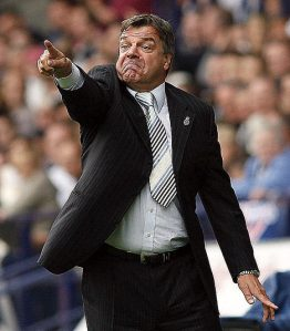 My tenuous link between Yang Wen-li and Sam Allardyce just wouldn't work without a picture of the latter