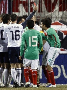 Rafael Marquez sent off in another 2-0 defeat for Mexico against the United States. Even with how much the world has changed in the last year, some things never change.