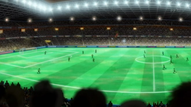 A scene from a 4th Round FA Cup tie between Portsmouth and the fictional East Ham