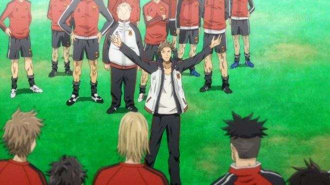 Tatsumi makes his announcement of the first team.