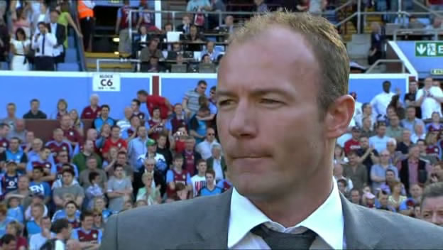 Alan Shearer looks on as his Newcastle side are relegated in May 2009