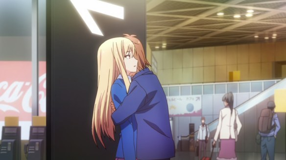 Mashiro constantly has to deal with random people coming up to hug her.