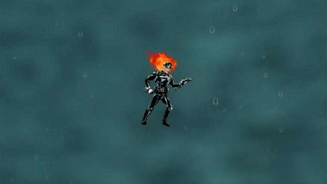 If this was really funny I would not be asking why he is on fire underwater.