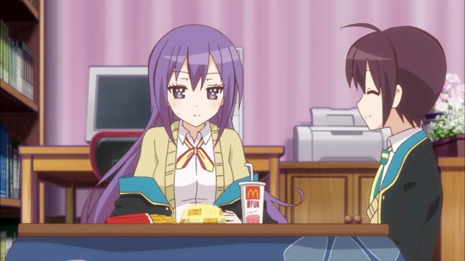 That looks like a delicious unhealthy meal that Shion shouldn't eat.