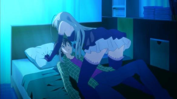 Nyaruko has Mahiro where she wants him.