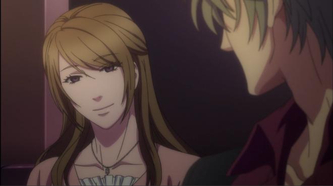 Asakura Ayumi talks to Haru at the host club.